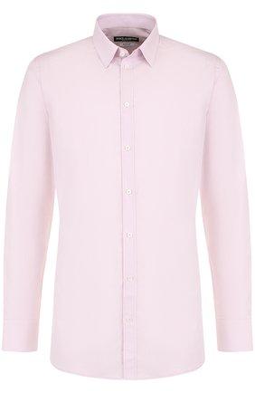 Мужская хлопковая сорочка DOLCE & GABBANA розового цвета, арт. G5EJ0T/FU5K9 | Фото 1