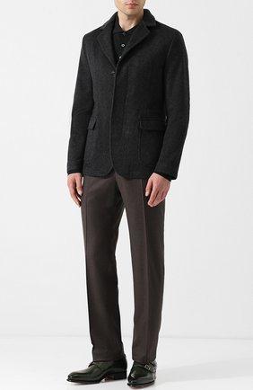 Мужские кожаные монки с двумя пряжками SANTONI зеленого цвета, арт. MCCR11652MC1HVVDV54 | Фото 2
