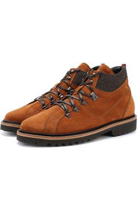 Мужские кожаные ботинки с внутренней меховой отделкой KITON светло-коричневого цвета, арт. USSSTMZN00139 | Фото 1