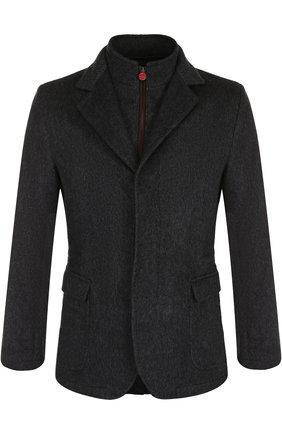 Мужская кашемировая куртка с подстежкой KITON темно-серого цвета, арт. UW0414V03R71 | Фото 1
