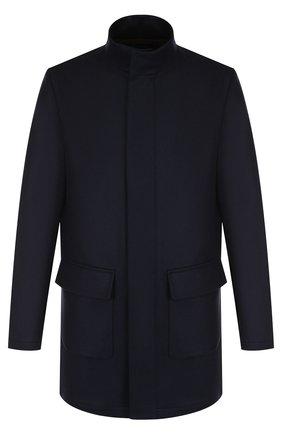 Кашемировое пальто на молнии с воротником-стойкой | Фото №1