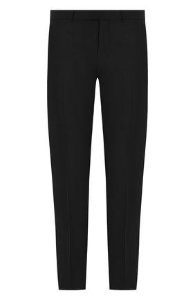 Шерстяные брюки прямого кроя Ermenegildo Zegna черные | Фото №1