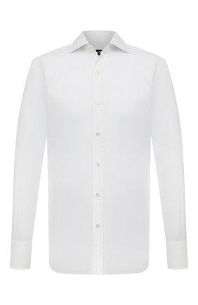 Мужская хлопковая сорочка с воротником кент TOM FORD белого цвета, арт. 4FT190/94C1AX | Фото 1