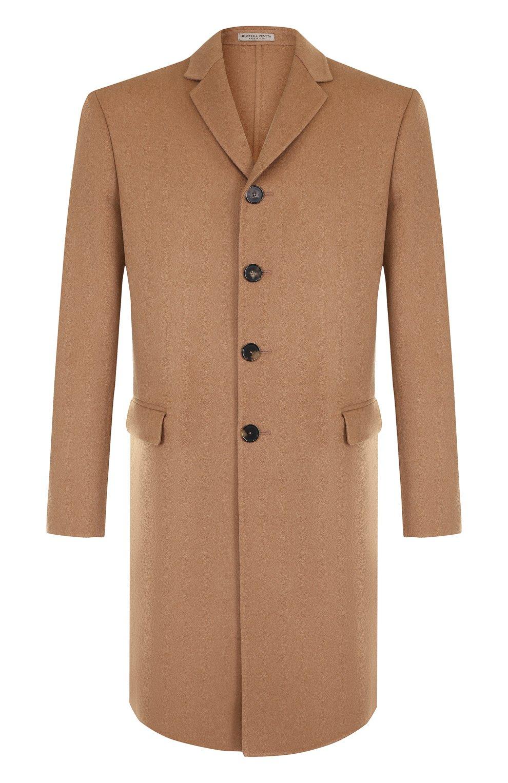 Однобортное кашемировое пальто | Фото №1