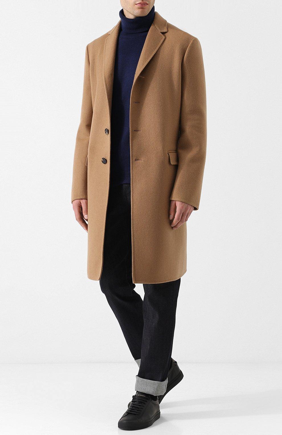 Однобортное кашемировое пальто | Фото №2