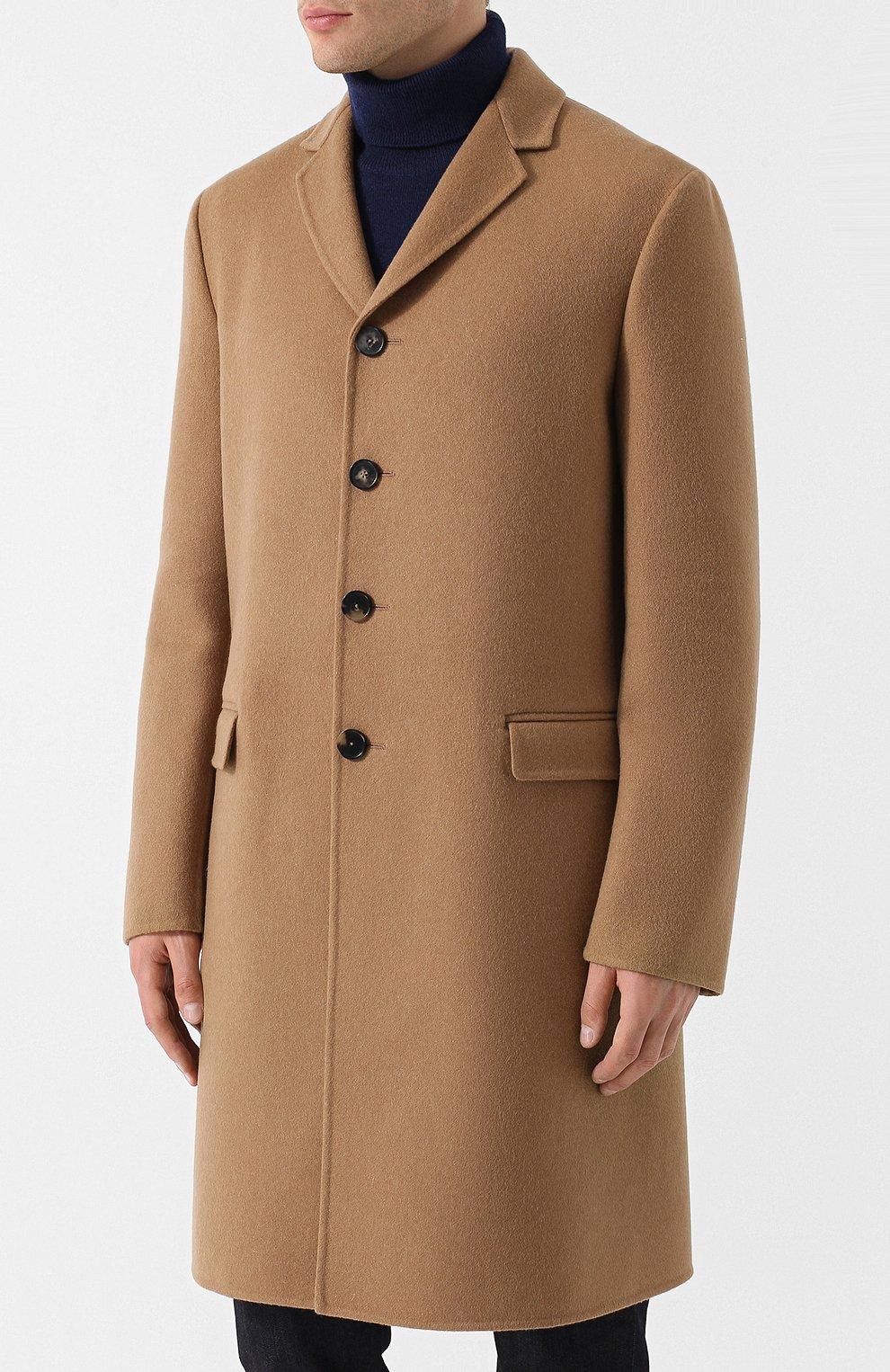 Однобортное кашемировое пальто | Фото №3