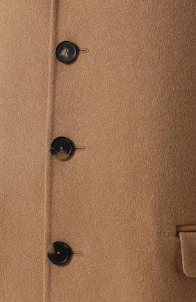 Однобортное кашемировое пальто | Фото №5