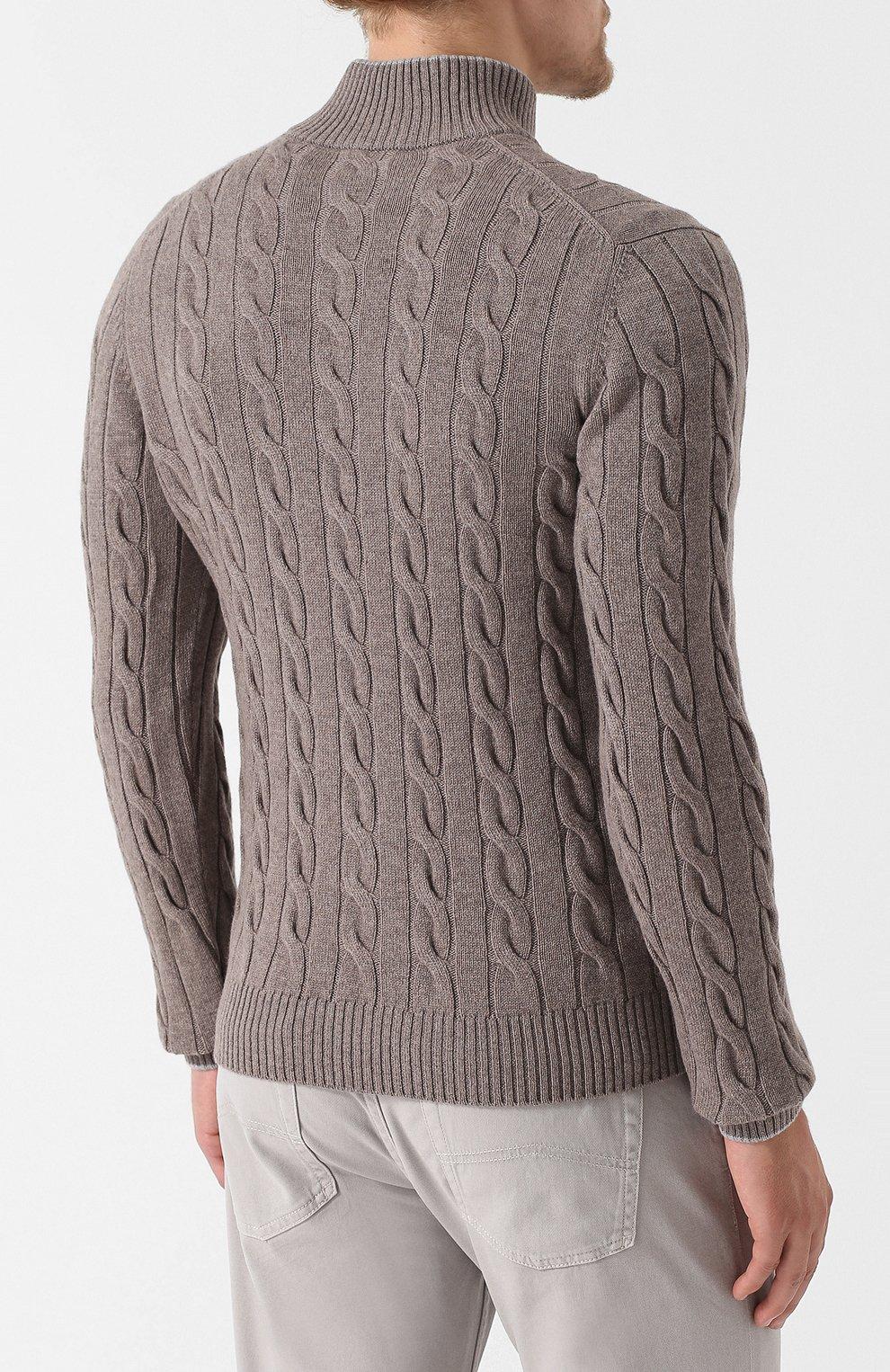 0719f57441448 Мужской темно-бежевый свитер из смеси шерсти и кашемира GRAN SASSO ...