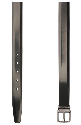 Мужской кожаный ремень с металлической пряжкой DOLCE & GABBANA черного цвета, арт. BC4216/AI935 | Фото 2