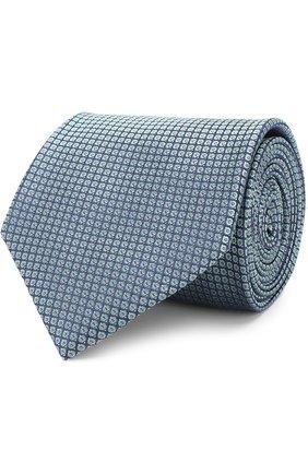 Мужской шелковый галстук BRIONI бирюзового цвета, арт. 062I00/0740I | Фото 1