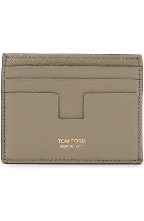 Мужской футляр для кредитных карт TOM FORD бежевого цвета, арт. Y0233T-C95 | Фото 1