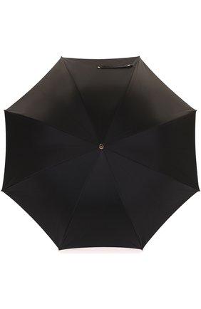 Мужской зонт-трость с фигурной ручкой ALEXANDER MCQUEEN черного цвета, арт. 378913/4A39Q | Фото 1