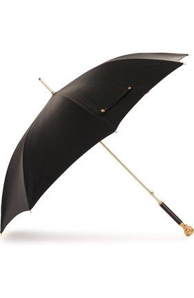 Мужской зонт-трость с фигурной ручкой ALEXANDER MCQUEEN черного цвета, арт. 378913/4A39Q | Фото 2