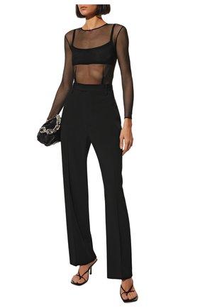 Женское полупрозрачное боди с круглым вырезом TOM FORD черного цвета, арт. TS1641-FAX240 | Фото 2