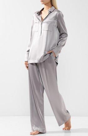 Блуза свободного кроя с накладными карманами   Фото №2