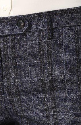 Женские укороченные брюки из смеси кашемира и льна с шелком KITON синего цвета, арт. D38103K01R29 | Фото 5
