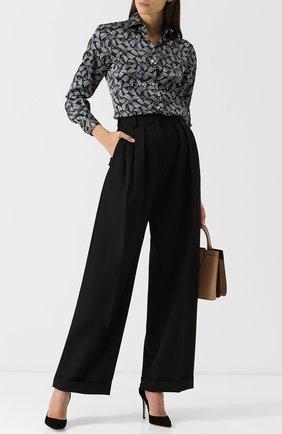 Шелковая блуза с принтом   Фото №2