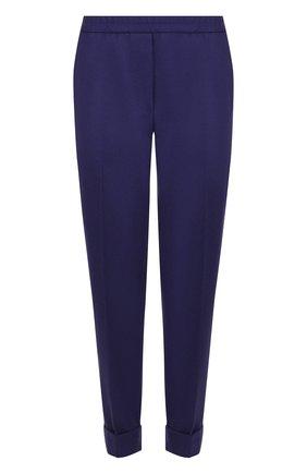 Шерстяные брюки со стрелками и отворотами | Фото №1