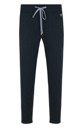 Укороченные кашемировые брюки с карманами Colombo темно-зеленые | Фото №1