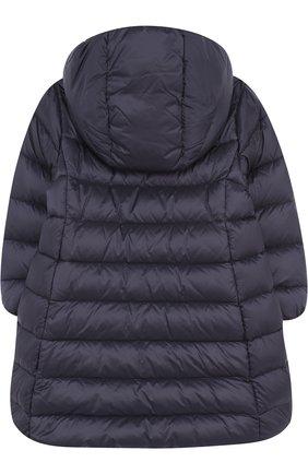 Детского стеганое пальто на молнии с капюшоном MONCLER ENFANT синего цвета, арт. D2-951-49372-05-53048 | Фото 2