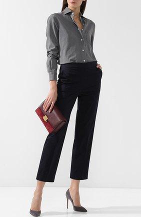 Джинсовая блуза с накладным карманом   Фото №2