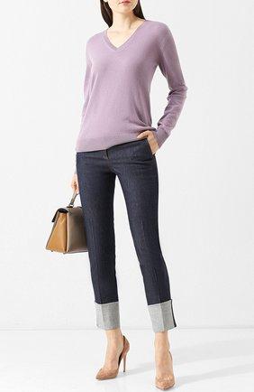 Женский кашемировый пуловер с v-образным вырезом RALPH LAUREN светло-розового цвета, арт. 290719946   Фото 2 (Рукава: Длинные; Статус проверки: Проверена категория, Проверено; Материал внешний: Шерсть, Кашемир; Длина (для топов): Стандартные; Женское Кросс-КТ: Пуловер-одежда; Стили: Кэжуэл)