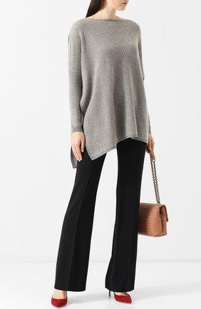 Женская кашемировый пуловер свободного кроя RALPH LAUREN серого цвета, арт. 290728352 | Фото 2