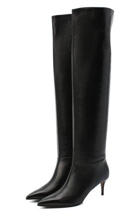 Женские кожаные сапоги LE SILLA черного цвета, арт. 2153M060R1PPMIN | Фото 1