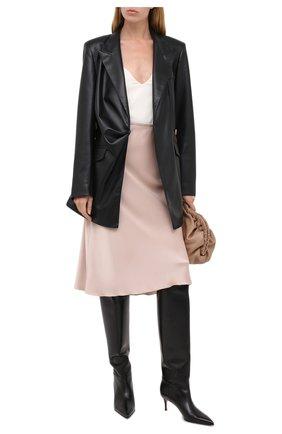 Женские кожаные сапоги LE SILLA черного цвета, арт. 2153M060R1PPMIN | Фото 2