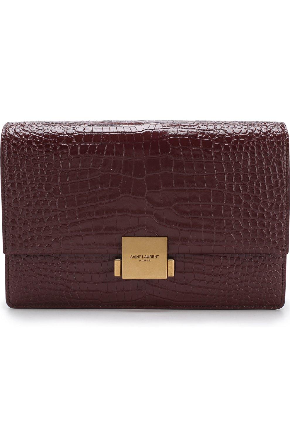 Женская сумка bellechasse SAINT LAURENT бордового цвета, арт. 482044/DND0W | Фото 1