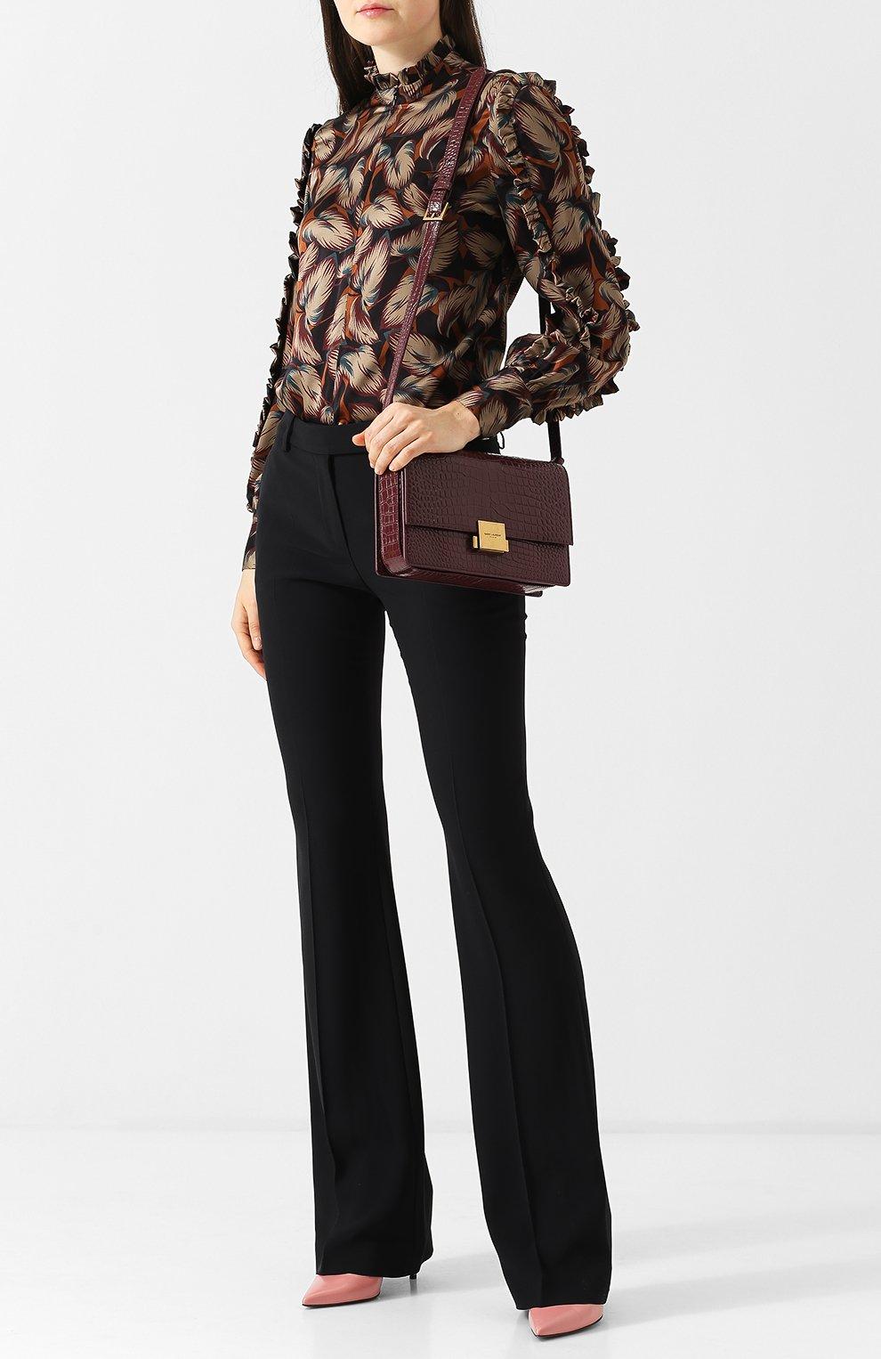 Женская сумка bellechasse SAINT LAURENT бордового цвета, арт. 482044/DND0W | Фото 2