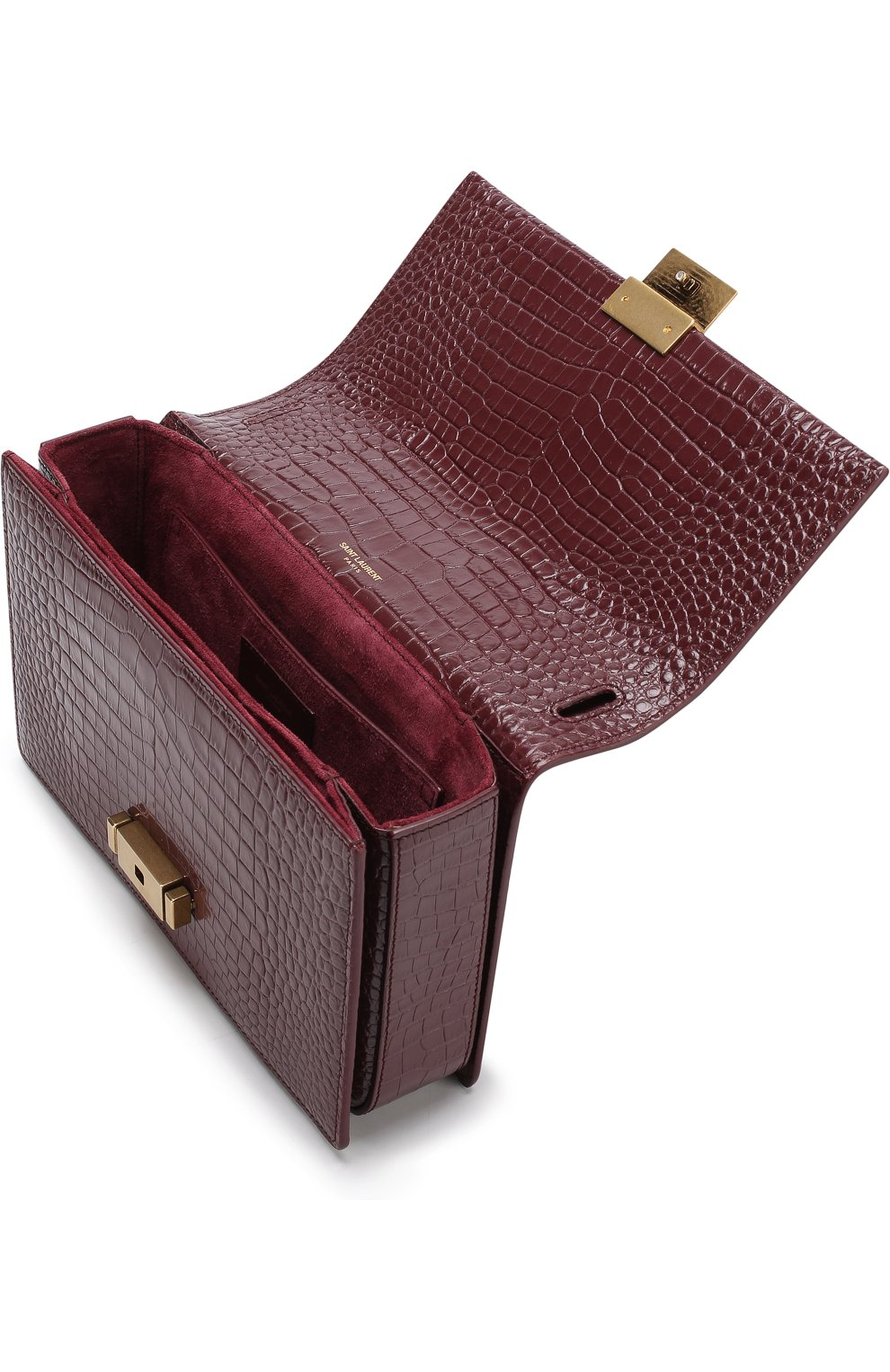 Женская сумка bellechasse SAINT LAURENT бордового цвета, арт. 482044/DND0W | Фото 4