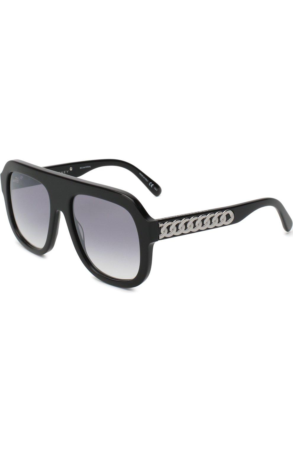 Женские солнцезащитные очки STELLA MCCARTNEY черного цвета, арт. 0065 001 | Фото 1