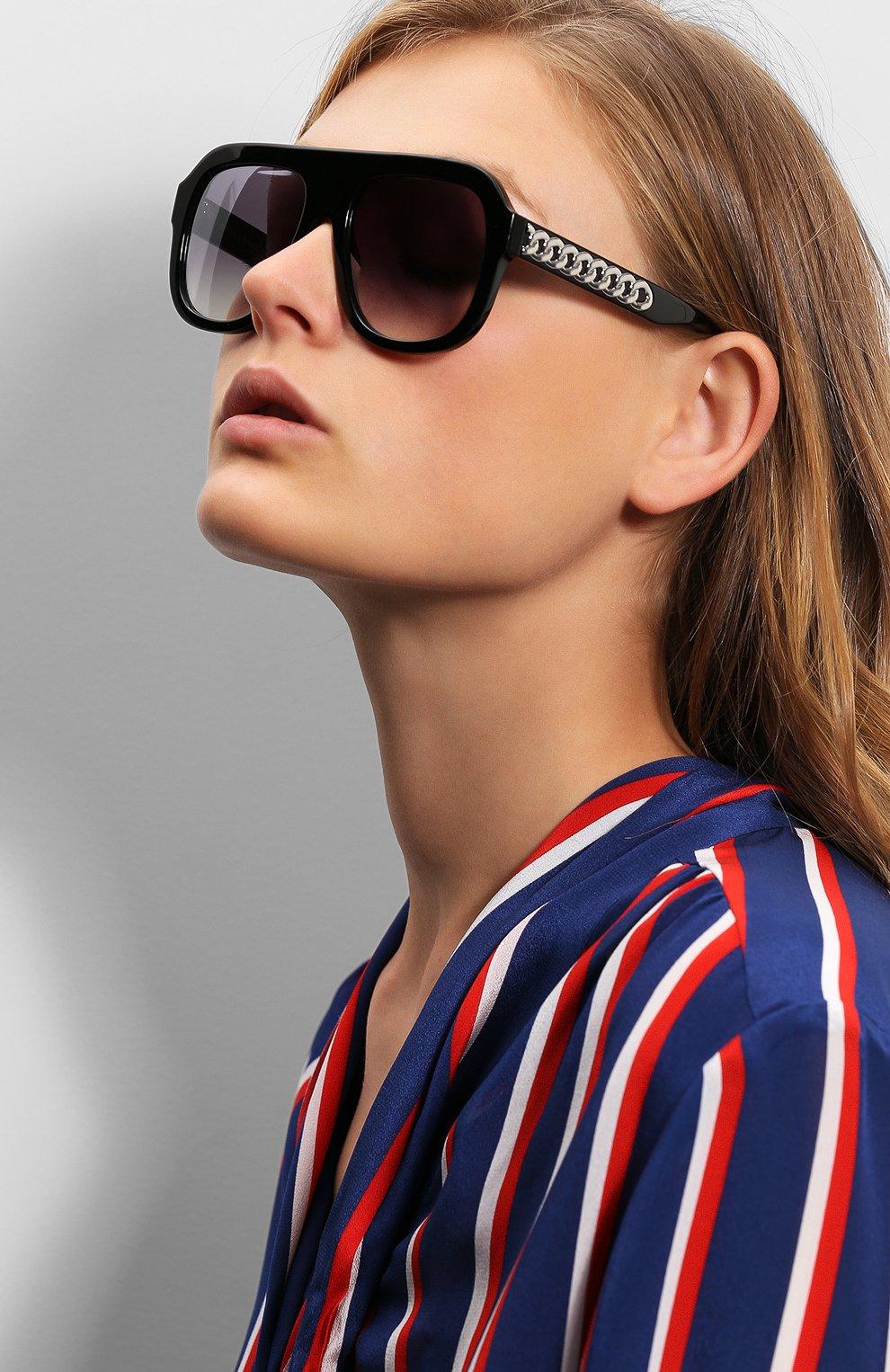 Женские солнцезащитные очки STELLA MCCARTNEY черного цвета, арт. 0065 001 | Фото 2