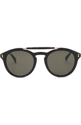 Мужские солнцезащитные очки GUCCI черного цвета, арт. GG0124 001 | Фото 2