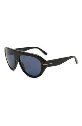 Женские солнцезащитные очки TOM FORD черного цвета, арт. TF589 01V   Фото 1