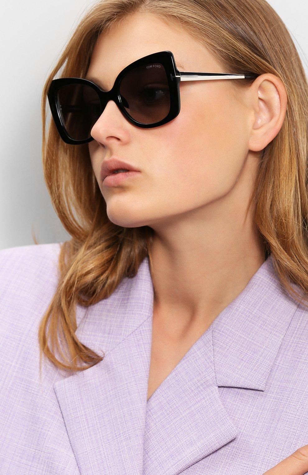 Женские солнцезащитные очки TOM FORD черного цвета, арт. TF609 01C | Фото 2