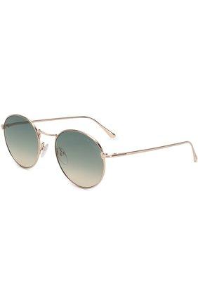 Мужские солнцезащитные очки TOM FORD золотого цвета, арт. TF649 28P | Фото 1