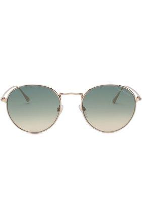 Мужские солнцезащитные очки TOM FORD золотого цвета, арт. TF649 28P | Фото 2