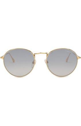 Мужские солнцезащитные очки TOM FORD золотого цвета, арт. TF649 30C | Фото 2