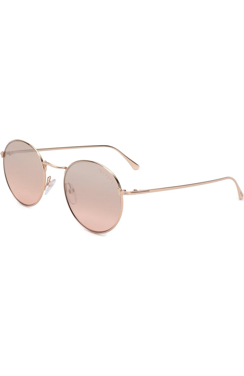 Женские солнцезащитные очки TOM FORD светло-розового цвета, арт. TF649 33Z | Фото 1