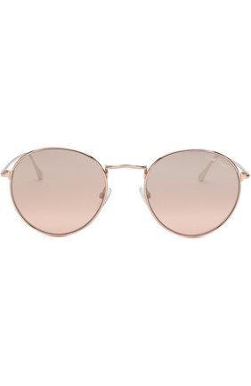 Женские солнцезащитные очки TOM FORD светло-розового цвета, арт. TF649 33Z | Фото 3
