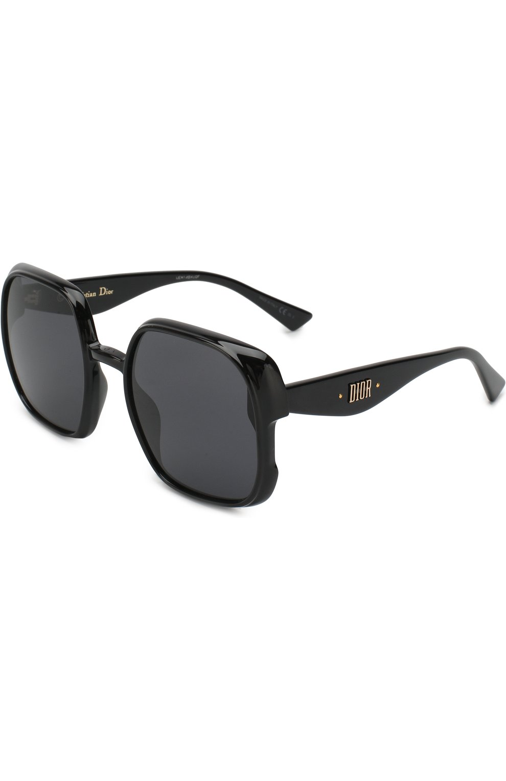 Женские солнцезащитные очки DIOR черного цвета, арт. DI0RNUANCE 807 | Фото 1