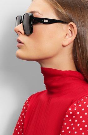 Женские солнцезащитные очки DIOR черного цвета, арт. DI0RNUANCE 807 | Фото 2