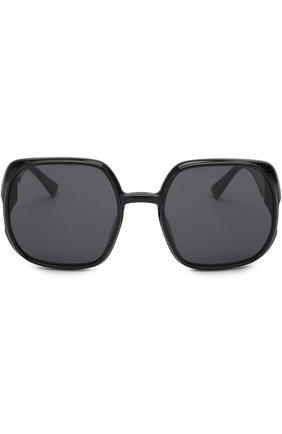 Женские солнцезащитные очки DIOR черного цвета, арт. DI0RNUANCE 807 | Фото 3