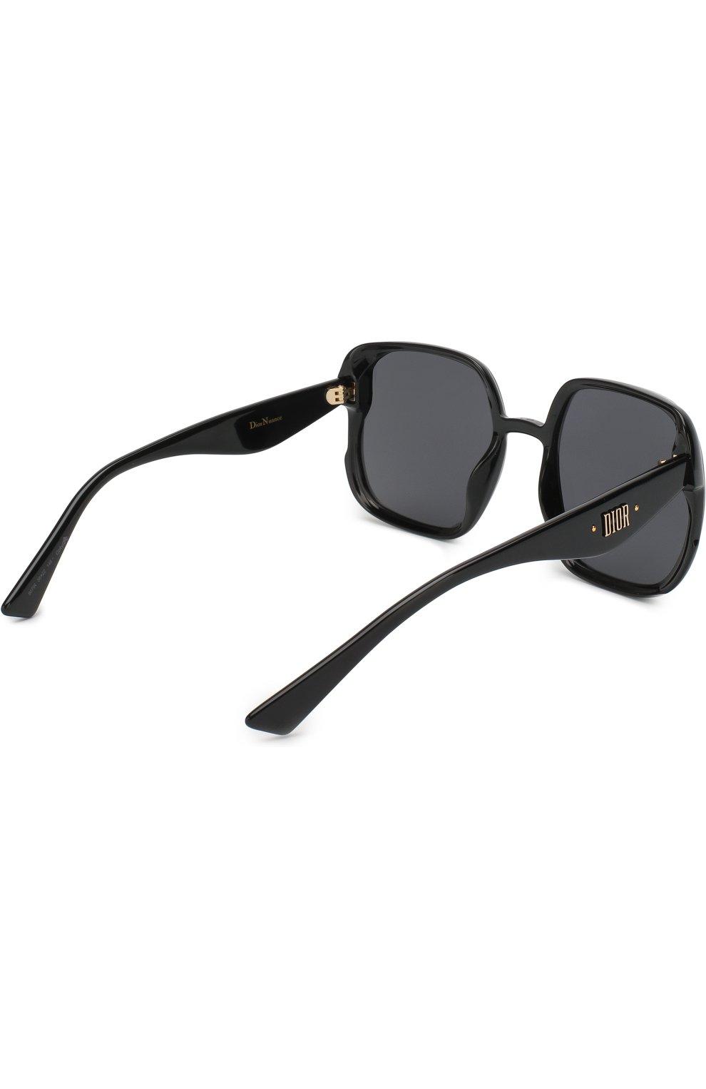 Женские солнцезащитные очки DIOR черного цвета, арт. DI0RNUANCE 807 | Фото 4