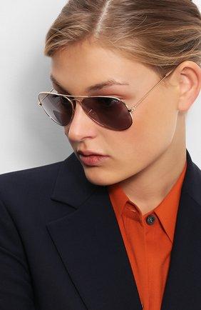 Солнцезащитные очки Ray-Ban золотые   Фото №1