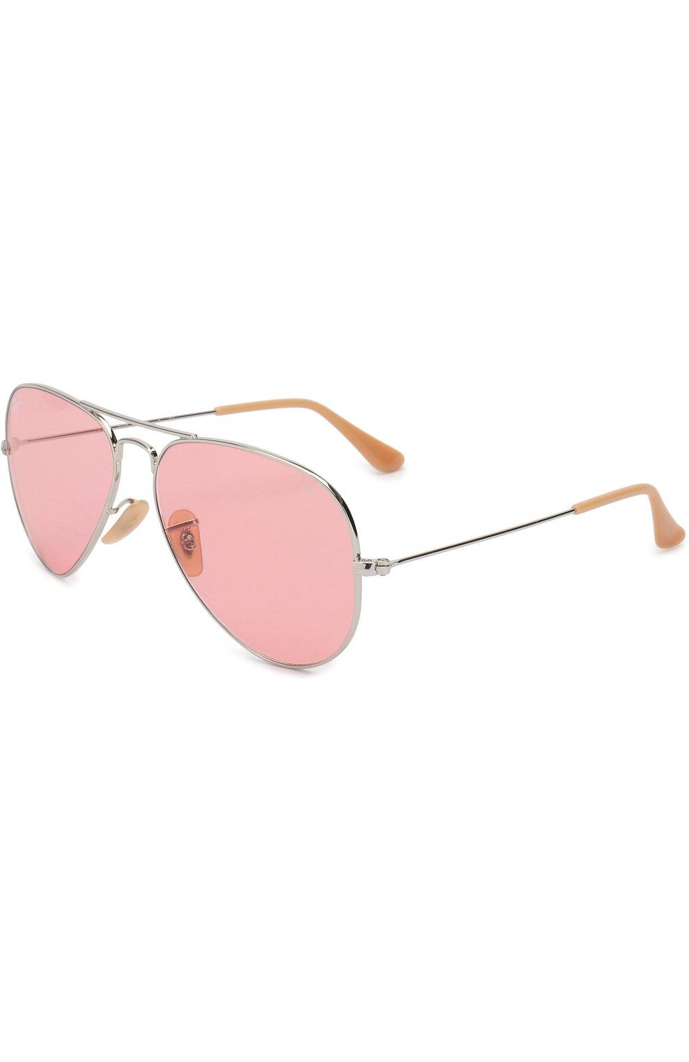 Женские солнцезащитные очки RAY-BAN розового цвета, арт. 3025-9065V7 | Фото 1