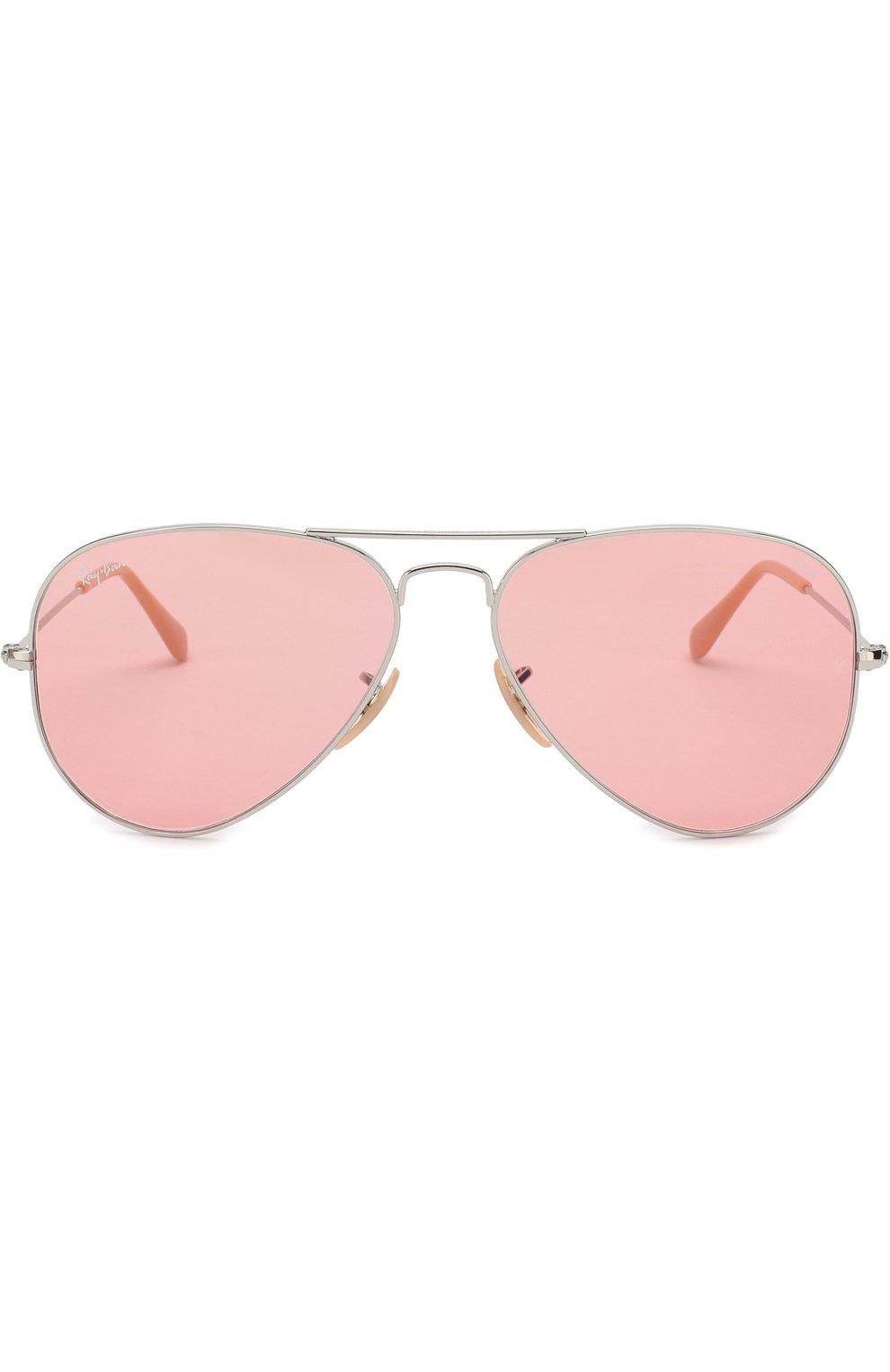 Женские солнцезащитные очки RAY-BAN розового цвета, арт. 3025-9065V7 | Фото 3