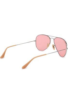 Женские солнцезащитные очки RAY-BAN розового цвета, арт. 3025-9065V7 | Фото 4